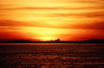 Bei einer Fahrt auf dem Chobe Fluss lässt sich wieder einmal einer der einzigartigen Sonnenuntergänge, die für Afrika so typisch sind, erleben.