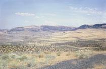 Von Montana ging es über ein kurzes Stück Idaho in den Staat Washington. Dieses Bild zu lokalisieren fällt heute, mehr als 50 Jahre nach der Reise, schwer. Ich denke es könnte ein Ausblick auf die Landschaft in Idaho sein.