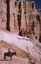 """Die uns begleitenden - und führenden – Guides stellen sich nicht nur in Manier des """"Marlboro Mannes"""" an fotogene Stellen, sondern informieren über allerlei Wissenswertes die Geschichte und Geologie des Parks betreffend."""