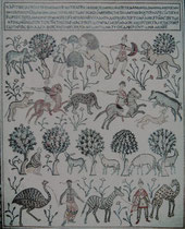 Auf dem Mount Nebo wurde um 393 n.Chr. eine Kirche erbaut und seitdem immer wieder umgestaltet. Die Hauptattraktion dieser Gedächtniskirche ist eines der schönsten frühchristlichen Mosaike aus dem Jahre 531 n. Ch. mit interessanten Mensch-Tier Szenen.