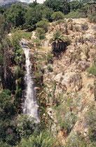 Zuhinterst am Fussweg kommt man zu einem Wasserfall. Das Flüsschen begleitet einem dann auf dem ganzen Weg zurück zum Parkeingang. (La Campana NP)