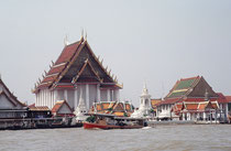 Aussicht vom Chao Phraya Fluss, Bangkok