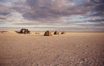 Die Makgadikgadi-Salzpfannen (sprich: Machadichadi) sind - neben der Etosha-Pfanne - die grössten Salzpfannen Afrikas. An der Stelle der heutigen Makgadikgadi-Salzpfannen war früher ein etwa 60000 km² grosser See mit einer Tiefe von bis zu 30 m.
