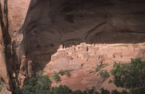 Neben dem Pueblo Betakin (hier im Bild) gibt es noch die Pueblos Keet Seel und Inscription House. Die drei Pueblos gehören zu den besterhaltenen Bauten der Anasazi und stammen aus dem 13. Jahrhundert. Zwei Pueblos können mit einem Führer besichtigt werden