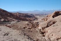 Eine Art kleiner Bryce Canyon auf dem Weg von Calama nach San Pedro de Atacama