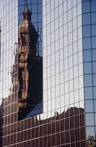 In Santiago vermischen sich historische und neue Bauelemente immer wieder.