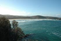 """Auf der Strecke von Merimbula nach Tahtra besuchten wir diesen paradiesischen Strand. Kein Wunder wird Merimbula """"The Jewel oft the Saphire Coast"""" genannt."""