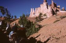 Nach rund 2 Stunden Ritt hat man den Ausgangspunkt wieder erreicht – um einige unvergessliche Eindrücke reicher. Der Bryce-Canyon-NP befindet sich auf einer Höhe von 2400 bis 2700 m und es kann dort bitter kalt werden, wie auch wir festgestellt haben.