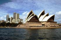 Und noch ein anderes Gebäude sieht man perfekt vom botanischen Garten aus, das Sydney Opera House aus dem Jahre 1973, eines der markantesten und berühmtesten Gebäude des 20. Jahrhunderts, das Wahrzeichen von Sydney und ein UNESCO Welterbe.