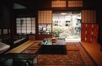 Inneres eines modernen japanischen Hauses im alten Stil