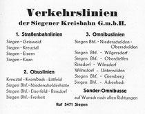 Reklame der Kreisbahn 1949