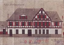 Das Empfangsgebäude in Welschen-Ennest