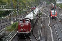 Weitere Sonderzüge wurden von 212 133 und einer V200.1 geführt (Aufnahme: Irmine Skelnik, Siegen)