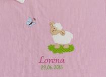 Babydecke Schäfchen Name Datum