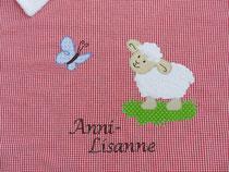 Babydecke Schäfchen Schmetterling Name