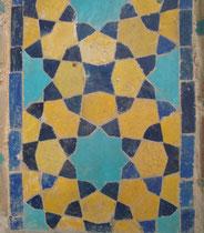 figuur 3 Detail van een mozaiek op een imamschool in Isfahan (Iran)
