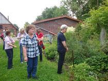 Dann wurde der Garten von Frau Mori besichtigt