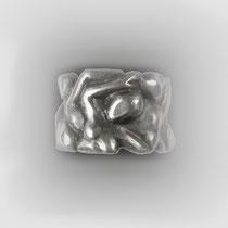 Figuraler Bandring in Silber.