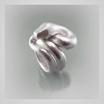 Schwerer Ring in Silber, dreifach gewundene Schlange.