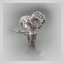 Großer experimenteller Ring in Silber. [ MÄRCHEN ]