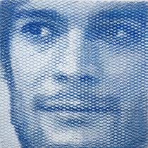 David, 2018, 80x80cm, dieci fogli di rete metallica intagliati a mano