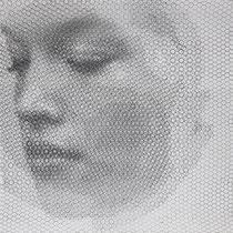 Blume, 2019, 100x100cm, dieci fogli di rete metallica intagliati a mano