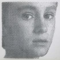 Alessio, 2019, 80x80cm, dieci fogli di rete metallica intagliati a mano