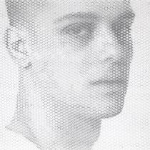 Daniele, 2019, 100x100cm, dieci fogli di rete metallica intagliati a mano