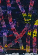 Untitled  // 20 X 29 cm //  acryl on paper // #114  2019