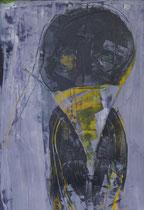 black bird  / 20 X 29 cm //  acryl on paper // #59  2019