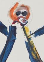 Untitled  // 13 X 18 cm //  acryl on paper // #28  2019