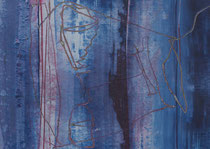 Untitled  // 13 X 18 cm //  acryl on paper // #107  2019