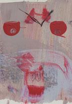 Untitled  // 28x40 cm //  acryl on paper // #32  2019