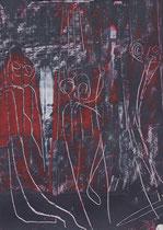 Untitled  // 13 X 18 cm //  acryl on paper // #33  2019