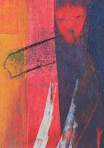 Untitled  // 13 X 18 cm //  acryl on paper // #30  2019