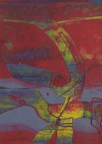 Untitled  // 13 X 18 cm //  acryl on paper // #87  2019