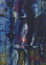 Untitled  // 13 X 18 cm //  acryl on paper // #88  2019