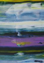 Untitled  // 13 X 18 cm //  acryl on paper // #128  2019