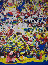 Untitled // 28 X 40 cm // acryl on paper // #167 2019