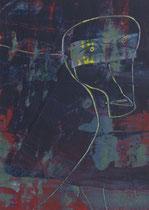 Untitled  // 13 X 18 cm //  acryl on paper // #86  2019