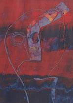 Untitled  // 13 X 18 cm //  acryl on paper // #85  2019