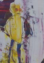 Untitled  // 20 X 29 cm //  acryl on paper // #55  2019
