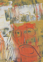Untitled  // 13 X 18 cm //  acryl on paper // #26  2019