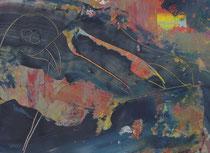 Untitled  // 20 X 29 cm //  acryl on paper // #64  2019