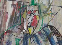drunken man  // 20 X 29 cm //  acryl on paper // #69  2019