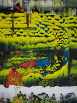 Untitled // 49 X 69 cm //  acryl on paper // #171  2019