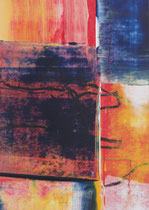 Untitled  // 13 X 18 cm //  acryl on paper // #96  2019