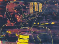 Untitled // 28 X 40 cm // acryl on paper // #121 2019