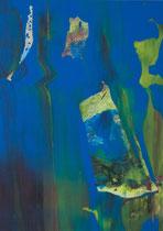 Untitled  // 13 X 18 cm //  acryl on paper // #130  2019