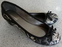 Graceland Ballerinas schwarz/silbern Gr. 38